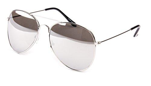 Pilotenbrille Fliegerbrille Sonnenbrille Nerd Nerdbrille Brille Vintage Classic Look UV Schutz 400 -...