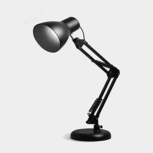 RZJF Led Tischlampe, Augenschutz Student Schreibtischlampe, Getönte Schmiedeeisenlampe Schwarz