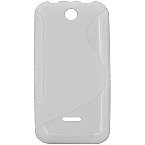 S Line Flexible TPU protector Carcasa Funda para Nokia 225 Blanco