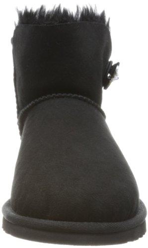 UGG Mini Bailey Button Bling, Bottes Classiques Femme Noir (Nero)