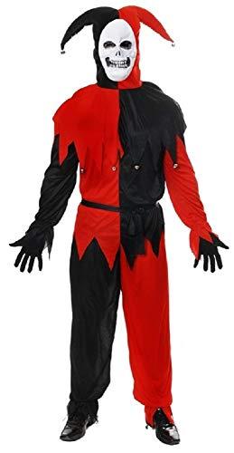 Böser Hofnarr Kostüm - Herren Erwachsene Böser Hofnarr Zirkus Karneval Halloween Kostüm Kleid Outfit