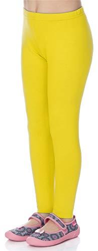 Mallas amarillas mujer deportivas - Niña (Amarillo limón, 110)