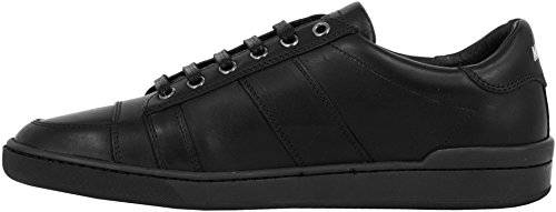 Moschino Chaussures Sneaker Hommes Men Shoe Cuir Veau 0012008621.02.9112 Black