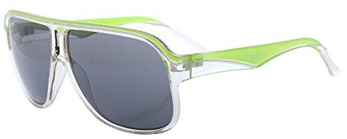 MasterDis KMA RACER Sonnenbrille Weiß Hellgrün