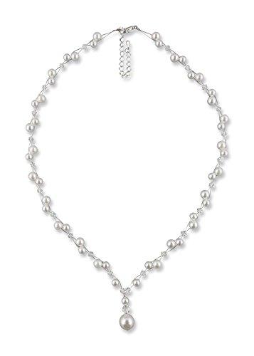 Rivelle Damen Y-Kette mit Perlen Marlene weiß Perlenkette Perlen Collier Halskette Necklace Modeschmuck Hochzeit