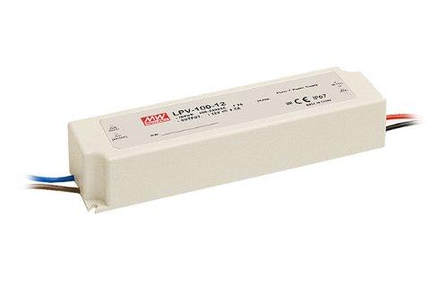100w 24v Meanwell LPV-100-24 Schaltnetzteil Netzgerät Trafo LED Streifen 24 Volt außen IP67 Netzteil