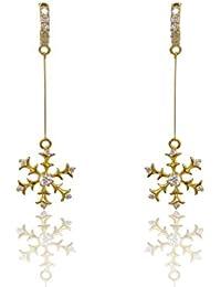 [Sponsored]Chandrika Pearls Gems & Jewellers Swarovski Elements Inspired White Colour Earrings For Girls