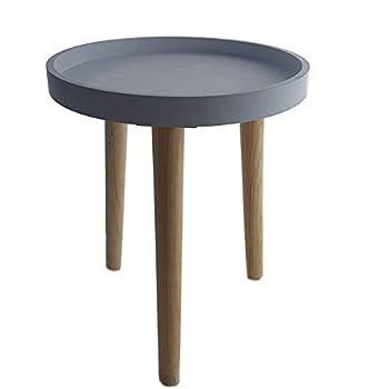 Deko Holz Tisch 36x30 Cm Grau Kleiner Beistelltisch Couchtisch Sofatisch