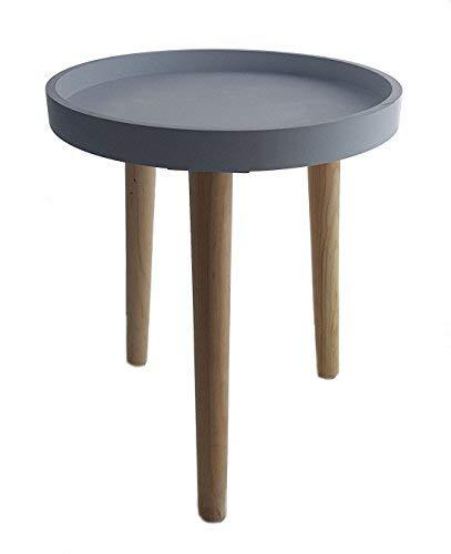 Deko Holz Tisch 36x30 cm - grau - Kleiner Beistelltisch Couchtisch Sofatisch
