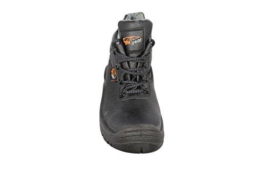 Light Year BX660 S3 SRC Trekkingschuhe Sicherheitsschuhe hoch Schwarz Schwarz
