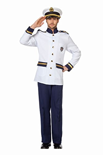 (Herren Kostüm Navy Kapitän Marine Karneval Fasching Gr.60)