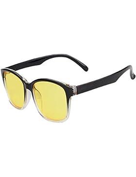 Aiweijia Gafas bloqueadoras de Blu-ray Gafas de computadora Protección UV Anti-fatiga Vintage Lentes de lentes...