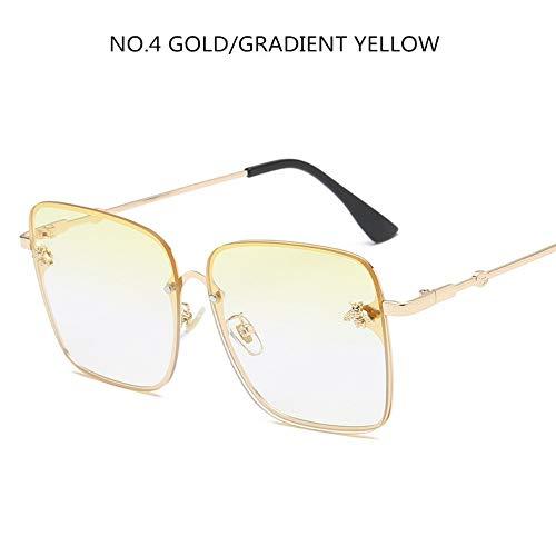 BUYAOAQ Große Eckige Sonnenbrille Für Männer Und Frauen, Prominente, Weibliche Farbe, G
