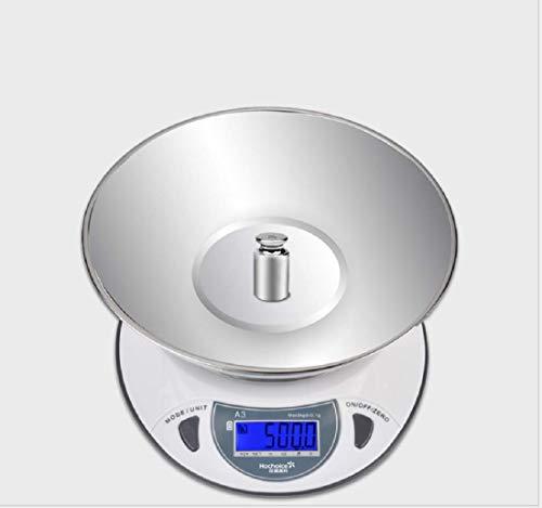 Ayanx 0.1g Edelstahl Digitale Küchenwaage 6kg / 0.1g Küchenwaage mit Bogenträger Separat Elektronisches Schmuck Präzisions-Präzisionskochwerkzeug rot