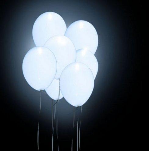 der geführter Ballon-reiner weißer Ballon LED-Licht-Hochzeits-Dekoration Partei-Hochzeits-Ballone beleuchtet für Valentinstag (Helium-ballone Mit Led-lichtern)