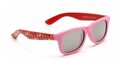 Baby Toddler Pink & Red Wayfarer Sunglasses with Soft Durable Plastic Frame and Black Smoked Lenses Providing Full UV 100% Protection Ideal for 0 to 3 Years