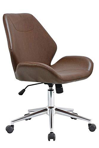 habeig Chefsessel #909 Bürostuhl Bürosessel Sessel Schwingstuhl Braun Leder