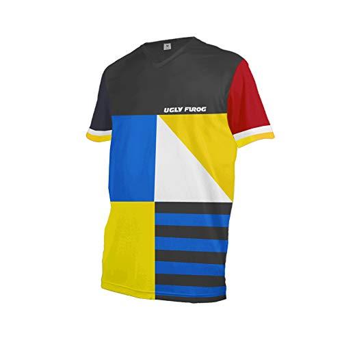 Uglyfrog+ 2019 Herren Mountainbike Downhill Freeride BMX Trikot Shirt Motocross Kurze Ärmel MTB/Downhill Cycling Jersey -
