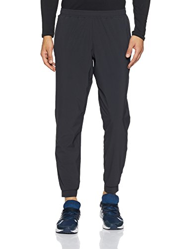 Asics 2018 Elasticated Stretch Woven Pants Mens Sports Trousers Performance Black XL -