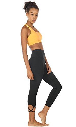 icyZone Damen Yoga Oberteile Sport BH mit Gepolstert Fitness Workout Top Banana Cream