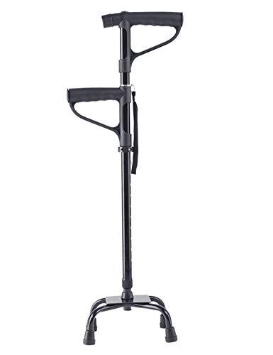 Zfggd Bastón de Aluminio bastón para Caminar Multifuncional Andador