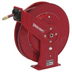 0.38 x 70', 300 psi, Heavy Industrial Air / Water Reel with Hose by Reelcraft -