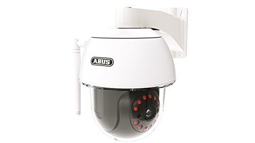 ABUS Dome-Außenkamera PPIC32520 mit Schwenk und Neigefunktion | Full HD 1080p | Infrarot Nachtsichtfunktion | mobiler Zugriff via App | weiß | 79652