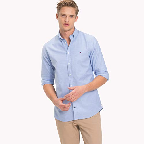n CORE Stretch Slim Oxford Shirt Freizeithemd, Blau Blue 474, Medium ()