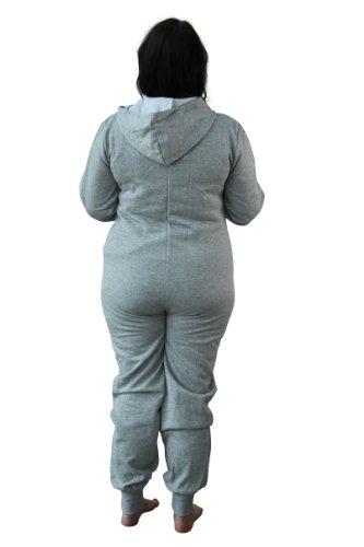Girl TalkDamen Strampelanzug, Einfarbig 100 DEN Grau - Grau
