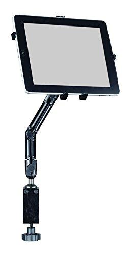 Infuu Holders Tisch Halterung aus Metall Aluminium universal für iPad air Mini Galaxy Tab Note Tablet-PC Tischklemme Rohr Stange Möbel 052 (Ipad Mini Halterung Ram)