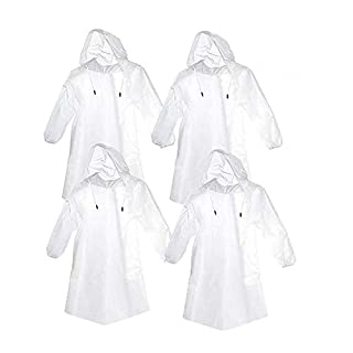 AntEuro Emergency Poncho Portable Waterproof Disposable Raincoat, Unisex Disposable Rain Poncho with Cap for Outdoor Travel Camping Hiking