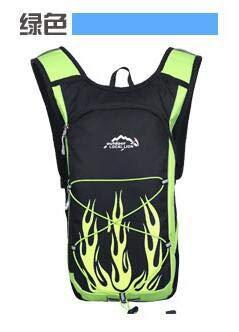 Simmia Sport Fahrradrucksack Trinkrucksack Wasserdicht Rucksäcke Reisetasche,Fahrrad-Helmtasche im Freien, grün