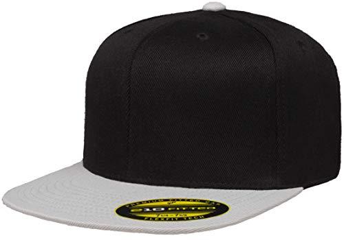 Flexfit Herren 210 Premium Fitted-2-Tone Mütze, schwarz/grau, L/XL 210 Flex Cap
