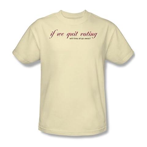Quitter vote - T-shirt des hommes à la crème, XXX-Large, Cream