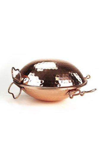 CopperGarden® Cataplana Bräter Größe S ❀ 19 cm Durchmesser ❀ geniales multifunktionales Kochgerät aus Kupfer
