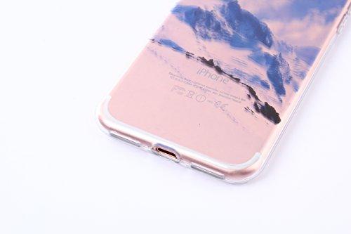 Meimeiwu Hohe Qualität Ultra Slim Schöne Landschaft TPU Transparent Case Hülle Schutzhülle für iPhone 6 6S - Beach Day Snow Mountain