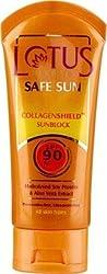 Lotus Herbals Safe Sun Collagenshield Sunblock SPF-90, 50g