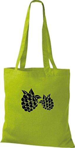 Tinta La Unita Stoffa Di T Color Di Preferita E Tua Cotone Blackberry Verdura Limegreen shirt Frutta Nero XRqEw0