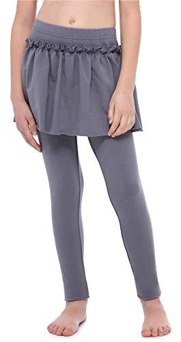 Merry Style Mädchen Warme Lange Leggings aus Baumwolle mit Rock MS10-255 (Graphite, 116 cm)