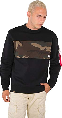 Alpha Industries Camo Bar Sweatshirt Schwarz/Camouflage XXL