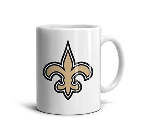 Azfaiop White Ceramic 11 OZ Coffee Mugs Printing Ceramic Coffee Mug Cups Friend,Dad,Grandpa,Brother Gifts,New Orleans Saints-10,One Size Pfaltzgraff Orleans