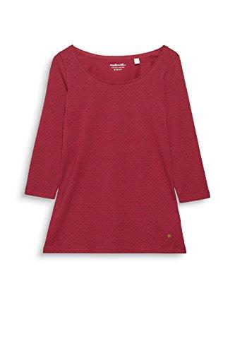 Esprit, T-Shirt à Manches Longues Femme Multicolore (Cherry Red 615)
