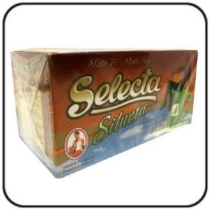 Yerba Mate Selecta Bustine di tè di dimagramento Silhouette miscela x (Tè Mate)