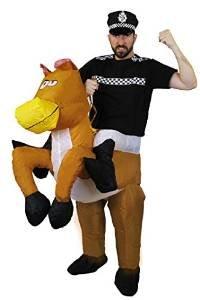 Pferd Jockey Kostüme Erwachsenen (BATTERIE SELBST AUFBLASENDES KOSTÜM FÜR EINE