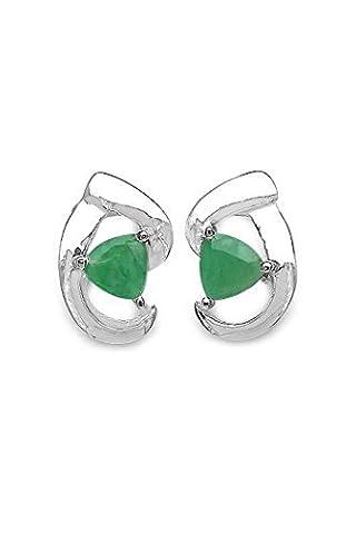 Silvancé - Women's Earrings - 925 Sterling Silver - Genuine Emerald - E315E_SSR