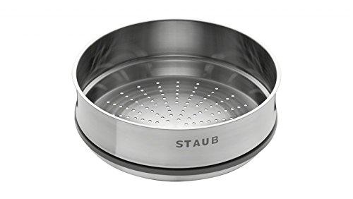 STAUB 40511-363-0 Panier Vapeur, Acier Inoxydable, INOX, 26 cm
