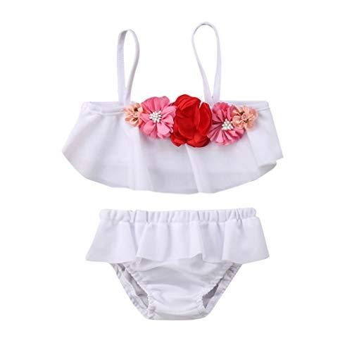 Oyedens 18721 (2-6T) Kinder-Bikini-Badeanzug mit Badeanzug + Shorts Badeanzug-Set Kinder Kinder Mädchen Bikini Beach Straps Badeanzug + Shorts Bademode ()