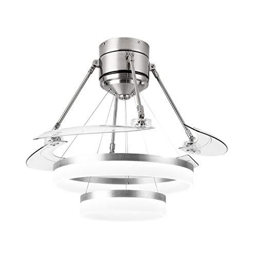 Ceiling fan light moderno kit luce ventilatore a soffitto a led, invisibile lampadario a scomparsa luce ventilatore a led illuminazione