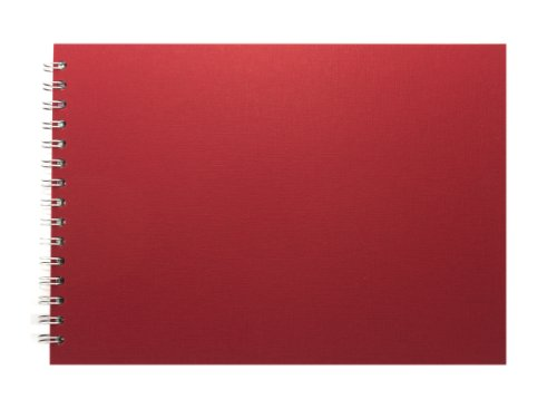 Pink Pig Skizzenbuch A4Querformat, Papier weiß, 150g/m2, 35Seiten), Rot