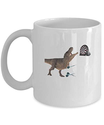 Taza de café Dardos - Regalos divertidos de dinosaurios - Taza de cerámica de 11 oz